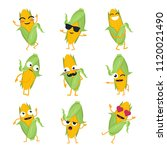 Funny Corn   Isolated Cartoon...