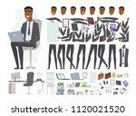 african businessman   vector... | Shutterstock .eps vector #1120021520