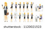 pretty businesswoman   vector... | Shutterstock .eps vector #1120021523