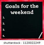 inscription on blackboard... | Shutterstock . vector #1120022249