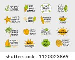 collection of summer elements... | Shutterstock .eps vector #1120023869