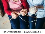 an unrecognizable elderly... | Shutterstock . vector #1120028156