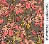 floral seamless pattern.... | Shutterstock .eps vector #1120028459