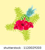 flower background vector art | Shutterstock .eps vector #1120029203