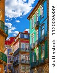 porto  portugal. traditional... | Shutterstock . vector #1120036889