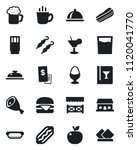 set of vector isolated black... | Shutterstock .eps vector #1120041770