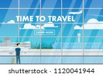 landscape interior view of the...   Shutterstock .eps vector #1120041944