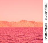 mountain landscape and sea....   Shutterstock . vector #1120044203
