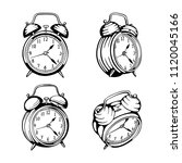 alarm clock. alarm clock hand... | Shutterstock .eps vector #1120045166
