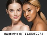 women portrait mix races black... | Shutterstock . vector #1120052273