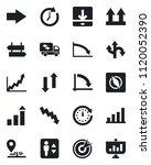 set of vector isolated black... | Shutterstock .eps vector #1120052390