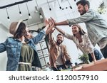 friends forever  group of young ... | Shutterstock . vector #1120057910
