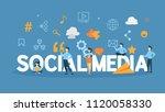 social media concept...   Shutterstock .eps vector #1120058330