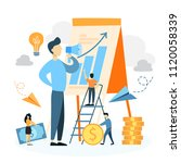 businessman with startup... | Shutterstock .eps vector #1120058339