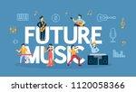future music concept...   Shutterstock .eps vector #1120058366