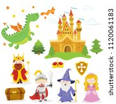 collection of fairy tale... | Shutterstock .eps vector #1120061183