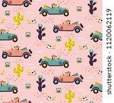 car race in sand desert cute... | Shutterstock .eps vector #1120062119