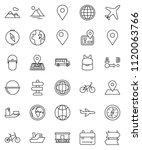 thin line vector icon set  ... | Shutterstock .eps vector #1120063766