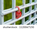 hanging red castle on a white...   Shutterstock . vector #1120067150