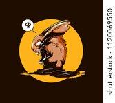 Stock vector follow the white rabbit vector illustration cartoon character 1120069550