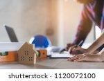architect   engineer  ... | Shutterstock . vector #1120072100