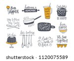 collection of lettering... | Shutterstock .eps vector #1120075589
