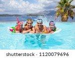 portrait of big family ... | Shutterstock . vector #1120079696