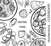 graphics dish on white... | Shutterstock .eps vector #1120082690