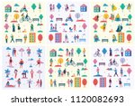 vector backgrounds in flat... | Shutterstock .eps vector #1120082693