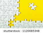 white details of puzzle on... | Shutterstock . vector #1120085348