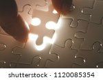 missing jigsaw puzzle piece... | Shutterstock . vector #1120085354