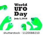 world ufo day illustration.... | Shutterstock . vector #1120088210