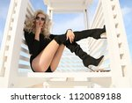 fashion outdoor photo of... | Shutterstock . vector #1120089188