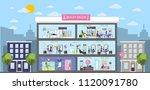beauty salon interior building... | Shutterstock .eps vector #1120091780