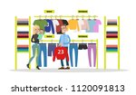sport store city building with... | Shutterstock .eps vector #1120091813