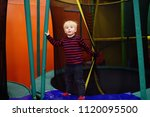 fanny little boy after activity ... | Shutterstock . vector #1120095500