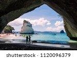 hahei  new zealand   january 5  ... | Shutterstock . vector #1120096379