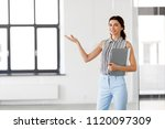 real estate business and people ... | Shutterstock . vector #1120097309