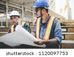engineers are planning to work... | Shutterstock . vector #1120097753