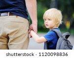back to school concept. little... | Shutterstock . vector #1120098836