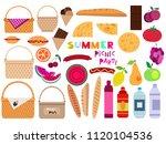 summer family  picnic concept...   Shutterstock .eps vector #1120104536