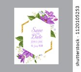 wedding invitation template... | Shutterstock .eps vector #1120105253