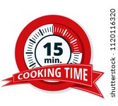 15 minutes cooking time... | Shutterstock .eps vector #1120116320