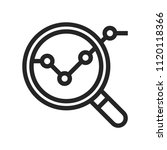 analysis icon. magnifier symbol. | Shutterstock .eps vector #1120118366