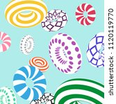 multicolored decorative rings....   Shutterstock .eps vector #1120119770