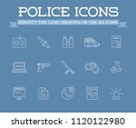 icons set of police related... | Shutterstock .eps vector #1120122980