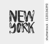 new york lettering. | Shutterstock .eps vector #1120136393