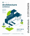 architecture exhibition cover... | Shutterstock .eps vector #1120136606