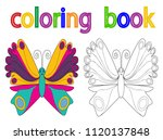book coloring  butterfly | Shutterstock .eps vector #1120137848