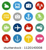 vector travel icons  vacation... | Shutterstock .eps vector #1120140008